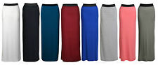 New Womens Long Jersey Gypsy  Maxi Dress Skirt Ladies Skirt Size (8-22)