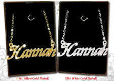 NAME NECKLACE 18k Gold Plated Hannah Helen Holly Jade Heather Jasmine | Gifts