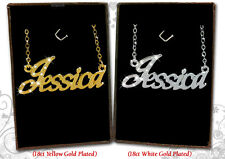 NAME NECKLACE 18k Gold Plated Jessica Joanne Jodie Julie Karen Kate Kerry Kelly