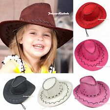 Halloween Various Color Western Cowgirl Cowboy Hat For Kids Party Costumes