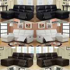 Recliner Sectional Sofa Leather Sectional Couch multi Color Ships to US