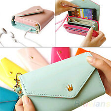 Sale Envelope Wristlet Wallet Phone Pouch Case for iPhone 5 4S Galaxy S2 S3 B71U