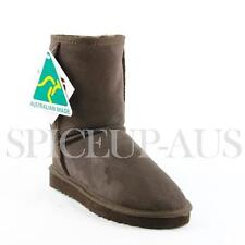 Australian Made Classic Short Ugg Boots Premium Sheepskin Chocolate Brown