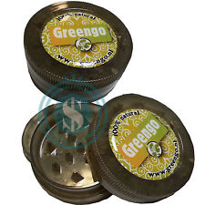 Greengo Eco 50mm 3 part Transparent Green Tobacco Herb Grinder. Recycled Plastic