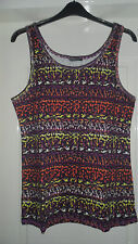 Sexy Tribal print stretch vest top - PLUS SIZE 18, 20, 22 & 24 BNWT summer/hols