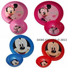 KIDS DISNEY Minnie & Mickey Mouse Childrens / Toddler Plate & Bowl Dinner Set