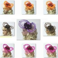 Fascinator Hat Butterfly Design Hair Clip Great For Wedding Black White Blue