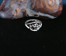 Sterling Silver Narcotics Anonymous Floating NA Logo Ring 12 Step Recovery 320