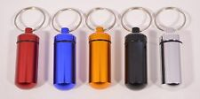 New Waterproof Aluminum Medicine Pill Container Box Bottle Case Key Chain Holder