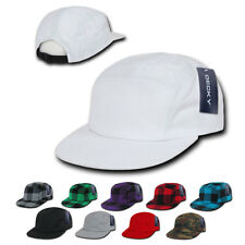 1 Dozen Decky 5 Panel Racer Racing Jockey Biker Cap Caps Hat Hats Camo Wholesale