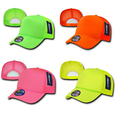 1 DOZEN DECKY PLAIN NEON FOAM MESH TRUCKER HATS HAT CAPS CAP SNAPBACK WHOLESALE