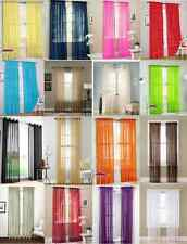 1 PANEL SHEER WINDOW VOILE CURTAIN DRAPES FULLY STITCHED HEMMED SEWN ALL 4 EDGES