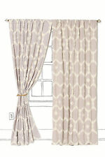 "Anthropologie Mod Honeycomb Curtain 50"" x 63"", Cotton, Neutral Motif, Fred Shand"