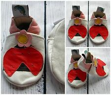 Baby Girl Leather Soft Sole Shoes Pink Red White LADYBUG Gift First Walkers