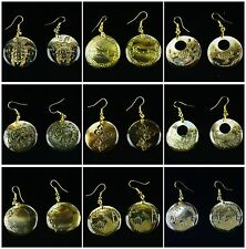 E1366 Pair Shell Turtle Horse Elephant Scalewing Traffic Circle Donut Earring