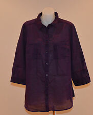 Yessica Ladies Casual Shirt - PURPLE - Size 16 - NEW