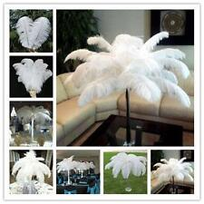 5-100Pcs White ostrich feathers wedding party decorations 6-22inch/15-55cm
