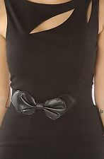 Black Fitted Low Back Women's Mini Dress S M L