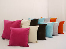 Super Soft Crushed Velvet large 24in or Medium 18in Plain Cushion Covers
