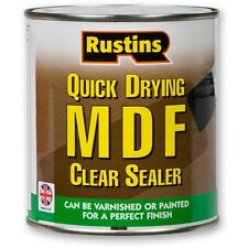 Rustins MDF Sealer Quick Drying, Clear Sealer Touch Dry In 30 Minutes ALL SIZES
