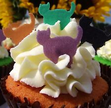 Halloween Cake Decorations - Edible Stand Up Wafer Cats - Cat Cake Toppers