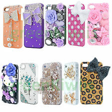 FOR APPLE iPHONE 4 4S CUTE 3D CRYSTAL RHINESTONE CASE BLING DIAMOAND HARD COVER