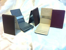 Mens WALLET Black Cream Grey Red Brown SLIM Fold Money Clip Faux Leather ID Card