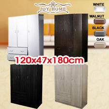New Large Wooden Wardrobe Four Colors 3 Doors 2 Drawers Cloth Racks Furniture