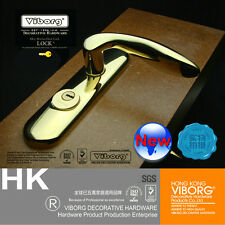 Top Quality Keyed Privacy Door Security Entry Mortise Lever Lock Set, PVD Gold