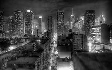 New York City USA Canvas Pictures Black White Wall Artwork Prints Many Sizes