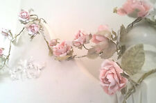 Pale Pink Rose Flower Garlands Sass & Belle Wedding Bedroom Shabby Vintage Chic