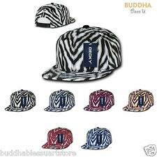 NEW DECKY ZIGER ANIMAL PRINT FLAT BILL HATS CAPS CAP HAT BASEBALL ZEBRA SNAPBACK