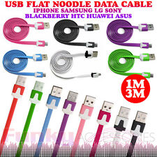 Flat Noodle Ribbon Micro USB Data Sync Cable Lead Charger for Motorola