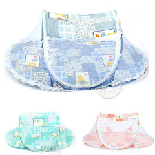 Baby Kids Childrens Folding Bed Nets Portable Cute Cartoon Mosquito Net New