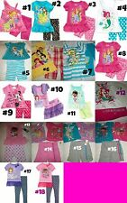 * NEW GIRLS 2PC or 3pc DISNEY PRINCESS McSTUFFINS SUMMER OUTFIT SET 2T 3T 4 5 6
