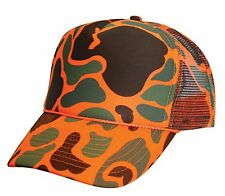 1 Dozen Neon Orange Camouflage Camo Baseball Trucker Hats Hat Cap Caps Wholesale