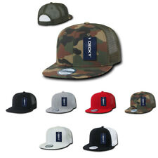 DECKY New 6 Panel Flat Bill Baseball Trucker Constructed Caps Cap Hats Unisex