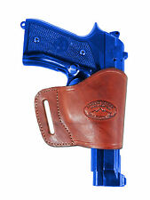Barsony Burgundy Leather Yaqui Gun Holster for Browning Colt 9mm 40 45 Full Size