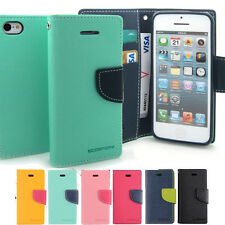 For Galaxy S3 S4 S5 iPhone 4 5 Wallet case cover Card Bill Silicone + Shock lot