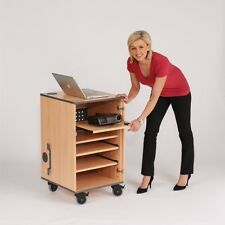 Secure Multimedia Mobile Lockable Cabinet - Great for projectors - Fully Built