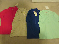 EP Pro Womens Golf Tennis Casual Top, Medium Liquid Cotton, NEW Green Blue Red