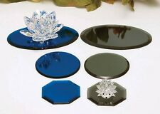Blue & Gray, Round, Square, Oval, Octagon, Display Mirrors with Feet (Pads),3mm
