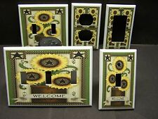 SUNFLOWER COUNTRY STAR WELCOME IMAGE LIGHT SWITCH OR OUTLET COVER V404
