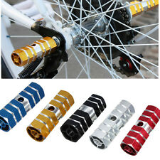 """MTB Mountain Bicycle Hexagonal Axle Pedal Alloy Foot Stunt 3/8"""" Pegs Cylinder"""