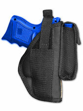 Barsony OWB Gun Holster w/ Magazine Pouch for Kel-tec, Sccy Compact 9mm 40 45