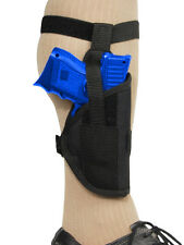 New Barsony Gun Concealment Ankle Holster for Smith & Wesson Compact 9mm 40 45