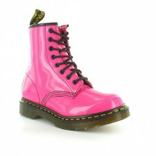 Dr Martens 1460W Womens Patent Leather Ankle Boots Pink