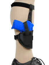 Barsony Gun Concealment Ankle Holster for Smith & Wesson Ultra-Comp 9mm 40 45