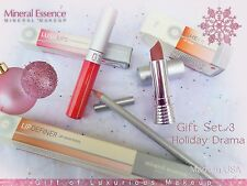 Mineral Essence Makeup - Set of Lipstick Lip Pencil and Gloss Great Value