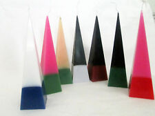 Mystic Aura Double Action Pyramid Candle 35hrs appr  6cm x 22cm +.annoniting oil